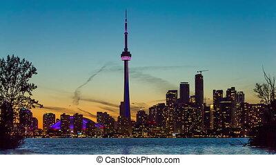 Toronto skyline, Canada - Toronto Downtown skyline view from...