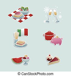 Food concepts icons