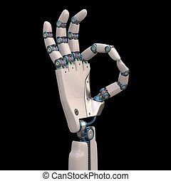Ok Robot - Robotic hand shaped and measures that mimic the...