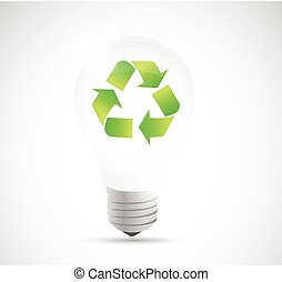 recycle light bulb illustration