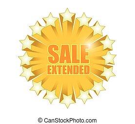 sale extended sign illustration design