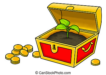 The True Treasure - An illustration of a plant inside a...