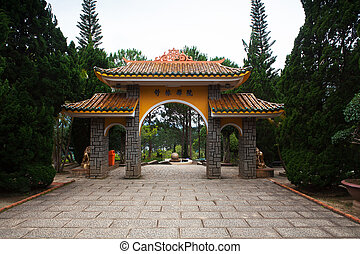 Gate pagoda to Monastery Dalat Vietnam - Gate Pagoda in...