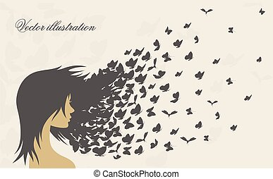 women's hairstyles and hair with butterflies - women's...