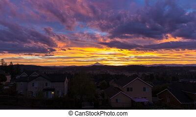 Time Lapse of Sunrise in Oregon - Time Lapse Movie of...