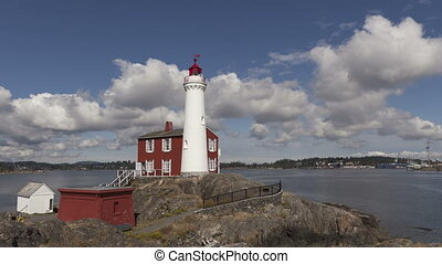 Time lapse lighthouse - Time lapse of Fisgard lighthouse on...