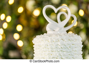 Wedding cake - Gourmet tiered wedding cake as centerpiece at...