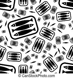 tin of sardines seamless pattern