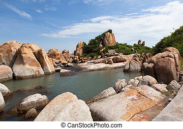 Ke Ga beach at Mui Ne, Phan Thiet, Vietnam. - Ke Ga beach at...