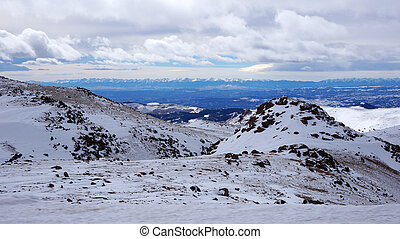 Scenery view of Pikes Peak national park, Colorado in the...