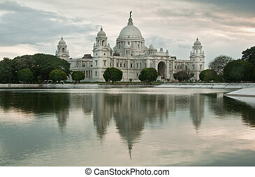 Victoria Memorial - Victoria memorial and reflection,...