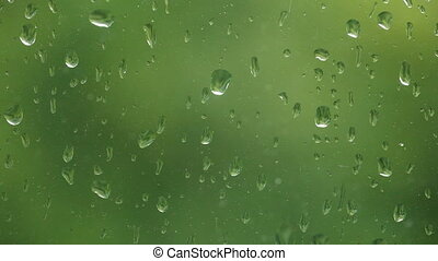Close up of a window with rain drop