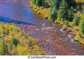 Platte River Colorado Aerial Closeup Photo. Colorado...