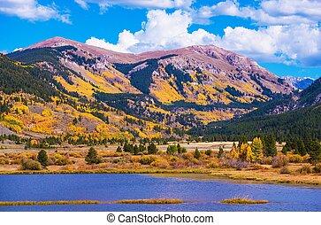 Colorado Autumn Colorful Colorado Mountains Fall Foliage and...