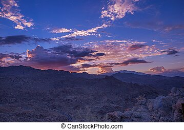 San Bernardino Sunset - San Bernardino Mountains Colorful...