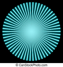 radial illustration - radial blue glowing striped pattern...