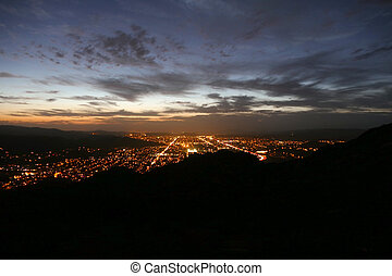 Simi Valley Nightfall - Southern California Sunset - Simi...
