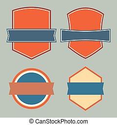 etro Emblem Sign Design Elements. Vector illustration