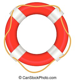 life buoy - Life buoy on a white background