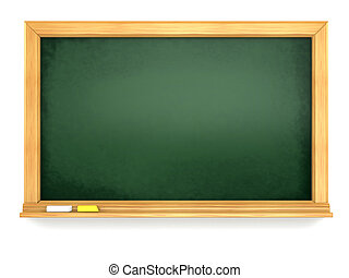 Blackboard or chalkboard on white isolated background. 3d