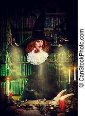 mystery witch - Attractive witch in the wizarding lair....