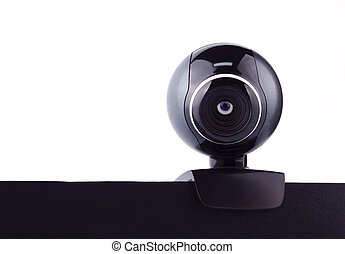 Web camera with the eye, making it's surveillance - Web...