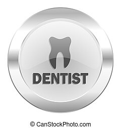dentist chrome web icon isolated