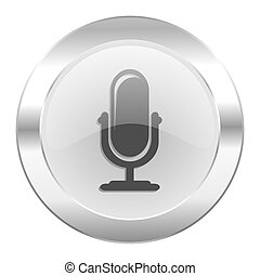 microphone chrome web icon isolated