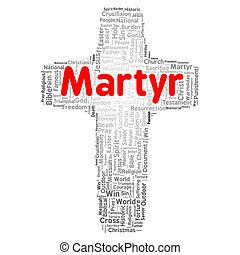 Martyr word cloud concept