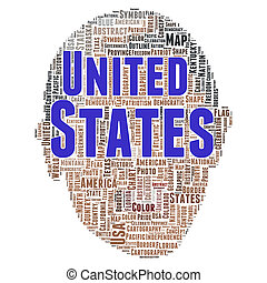 United states word cloud concept - United states word cloud...