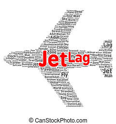 Jet lag word cloud concept - Jet lag word cloud shape...