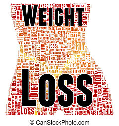 Weight loss word cloud concept - Weight loss word cloud...