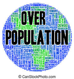 Overpopulation word cloud concept - Overpopulation word...