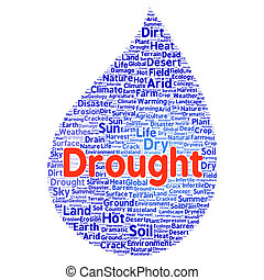 Drought word cloud concept - Drought word cloud shape...