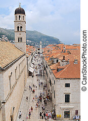 tourist relax and have fun at dubrovnik on adreatic sea at...