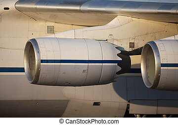 Jet Engines - Engines of a huge cargo aircraft