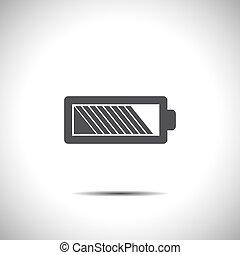 battery vector icon logo