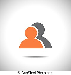 two people vector icon