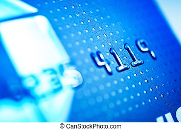 Credit Card Payments. Debit Bank Card Closeup Photo.