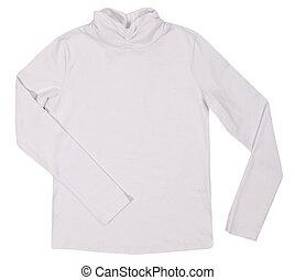 Child female shirt isolated on white background