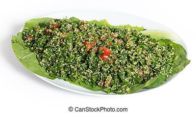 Tabouli - Homemade Lebanese-style tabouii, made with raw...