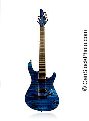 Beautiful blue electric guitar - Blue electric guitar front...