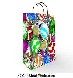 Holiday package with Christmas toys