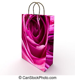 Holiday package with a picture of rose