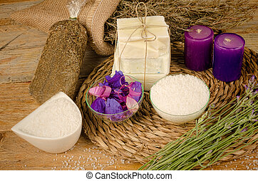 Bath salts and soap - Still life with bath salts and soap