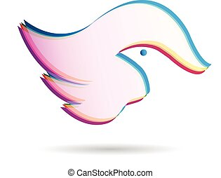 Bird abstract logo vector