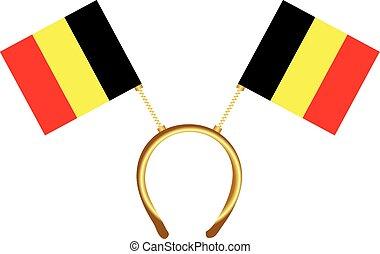Cool headdress flags Belgium