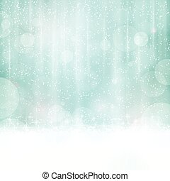 Abstract blue background with blurry lights