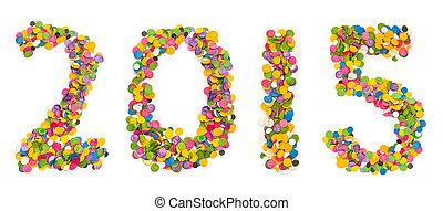 2015 made of confetti