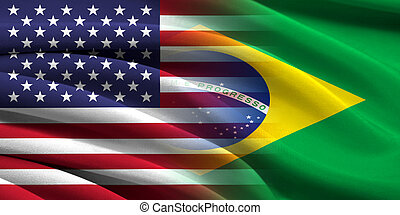 USA and Brazil. Relations between two countries. Conceptual...